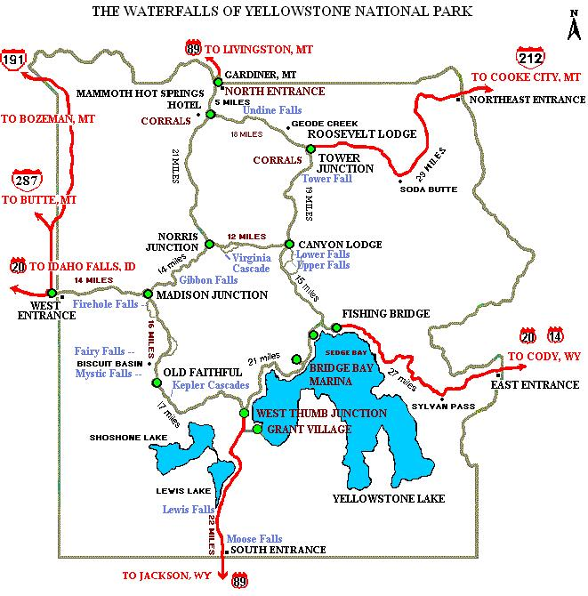 map waterfalls